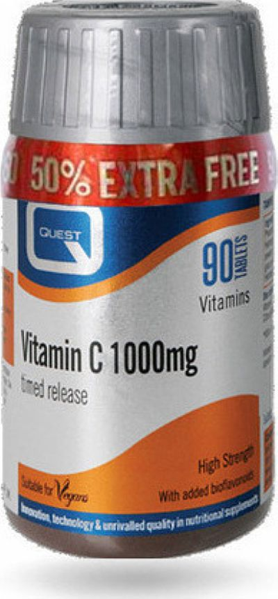 Quest Nutrition Vitamin C Timed Release 1000mg (+50%) 90 ταμπλέτες