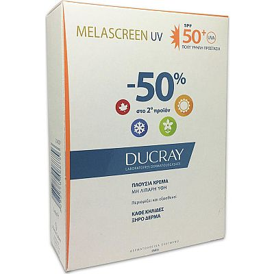 Ducray Melascreen UV Cream Rich,πλούσια κρέμα, SPF50 ,2x40ml