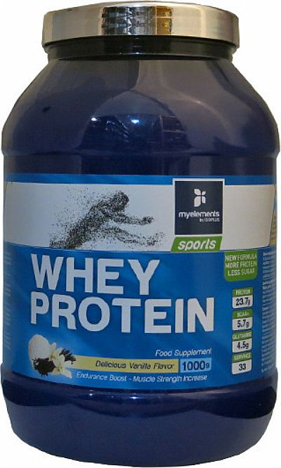 My Elements Sport Whey Protein Powder Vanilla 1000gr