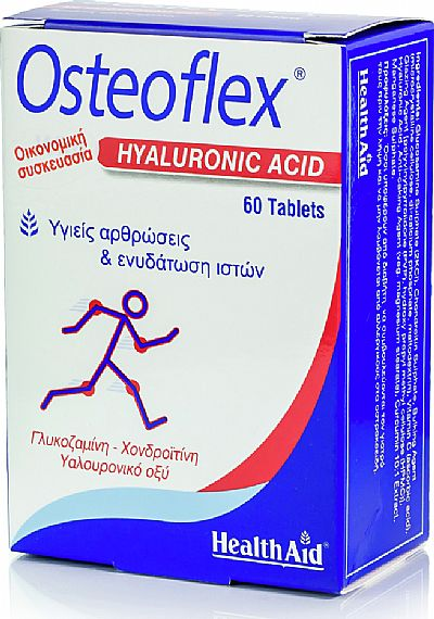 Health Aid Osteoflex with Hyaluronic Acid 60 ταμπλέτες