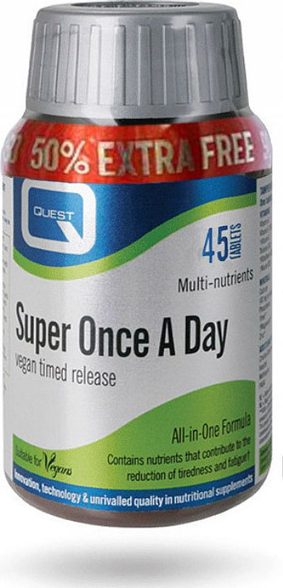 Quest Nutrition Super Once A Day Timed Release (+50%) 45 ταμπλέτες