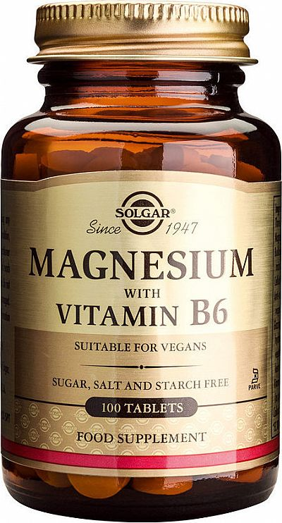 Solgar Magnesium with Vitamin B6,100 ταμπλέτες